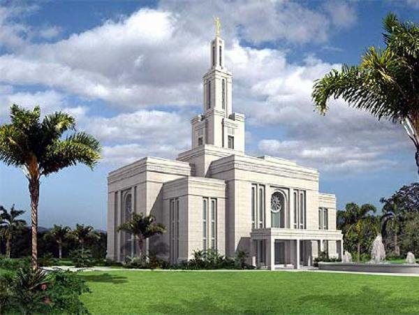 Gilbert temple artist rendition